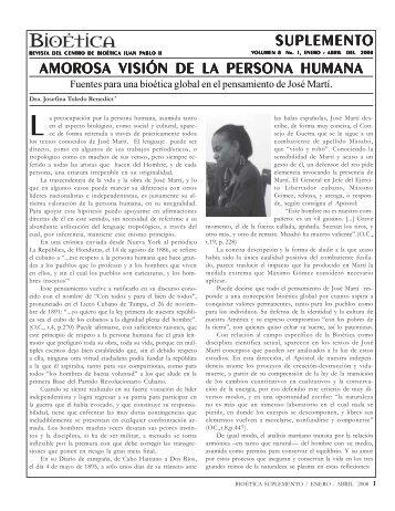 suplemento amorosa visión de la persona humana - Centro de ...