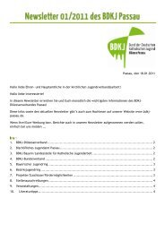 Hallo liebe Interessierte - BDKJ-Passau
