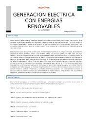 generacion electrica con energias renovables - Departamento de ...
