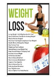 IMPACT OF WEIGHT LOSS