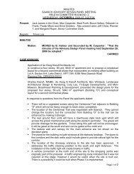 District of Saanich Advisory Design Panel Minutes