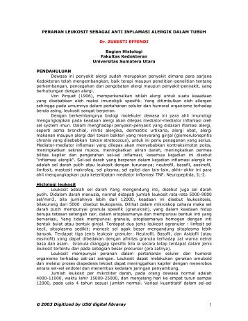 leukosit - USU Library - Universitas Sumatera Utara