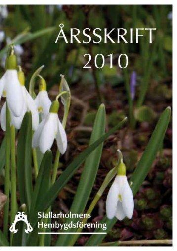 2010 - Stallarholmens Hembygdsförening