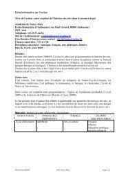 Histoire des Arts à l'école primaire , un - Académie de Nancy-Metz