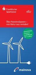 Öko-FestzinsSparen – von Natur aus rentabel - Mainova AG