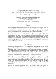 Managing Siting Conflict in Hong Kong - The Chinese University of ...