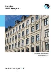 Husorden 1-6069 Ryesgade - Boligforeningen 3B
