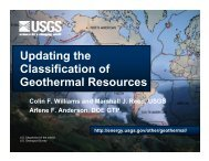 Updating the Classification of Geothermal Resources ... - EERE
