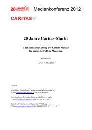 Mediendossier 29. März 2012 - Caritas beider Basel