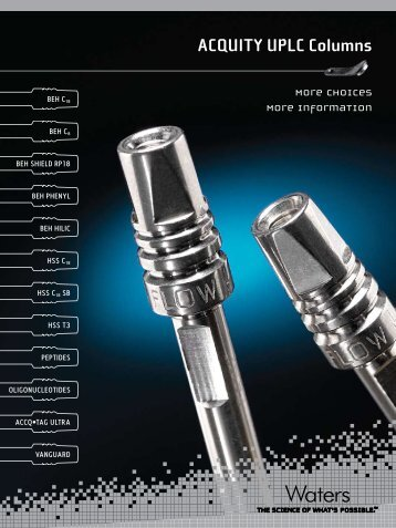 ACQUITY UPLC Columns - More Choices, More Information - Waters