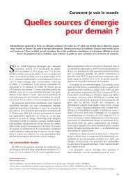 Quelles sources d'énergie pour demain ? - CNRS