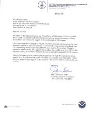 B-WET NOAA response letter - Gulf of the Farallones National ...
