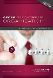 ORGANISATION® - Martin Mantz - Compliance Solutions