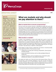 What are markets and why should we pay attention to ... - Mercy Corps