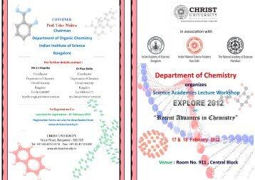 Department of Chemistry - Christ University