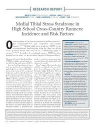 Medial Tibial Stress Syndrome in High School Cross-Country Runners