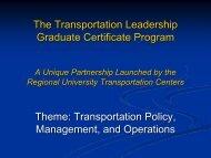 A Graduate Education Certificate Program - UTC