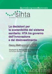 Programma 5° Congresso Nazionale SIHTA.pmd - Cittadinanzattiva