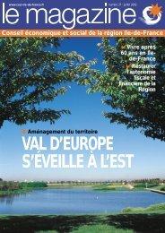 VAL D'EUROPE S'ÉVEILLE À L'EST - CESER Ile-de-France