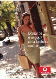 Domande e risposte sulla telefonia mobile - Vodafone