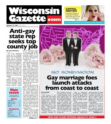 tHE vOiCE Of prOgrESS fOr WiSCONSiN'S LgBt COmmuNity