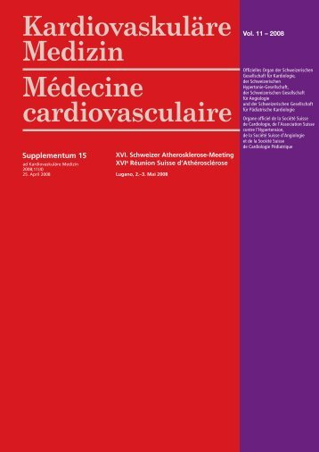 Supplement 15 (published with issue 4/2008) - Cardiovascular ...