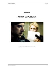 Kit média רטושה LE POLICIER - Festival del film Locarno