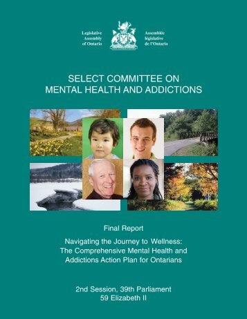 select committee on mental health and addictions - the Legislative ...