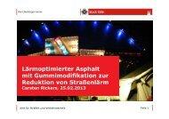 Kölner Asphalt Vortrag - Saarland