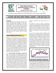 SACENDU Update - SA HealthInfo