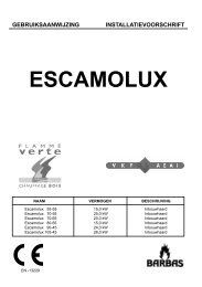 Gebruiksaanwijzing Barbas Escamolux - UwKachel