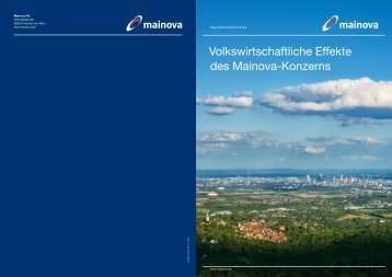 Volkswirtschaftliche Effekte des Mainova-Konzerns - Mainova AG