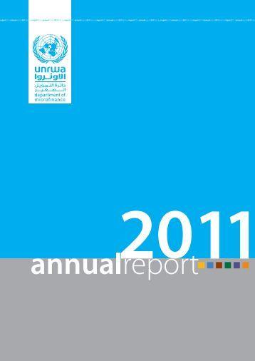 Microfinance department annual report 2011 - Unrwa