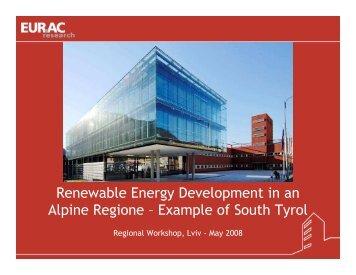 Renewable Energy Development in an Alpine Regione ... - Unido