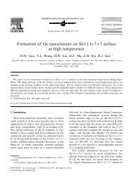 Formation of Ge nanoclusters on Si(1 1 1)-7×7 surface at high ...