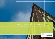 GROUP SUSTAINABILITY REPORT 2011 - WSP Group