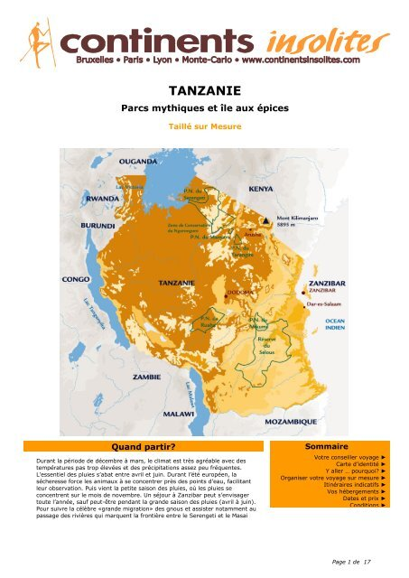 TANZANIE - Continents Insolites
