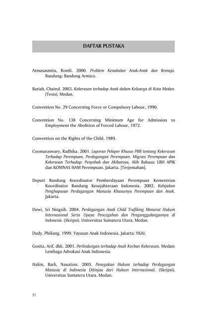 Daftar Pustaka Usupress Universitas Sumatera Utara