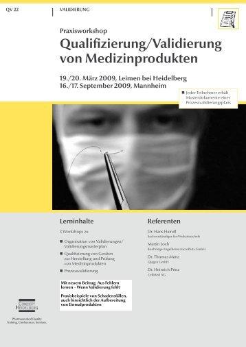Qualifizierung/Validierung von Medizinprodukten - GMP-Navigator