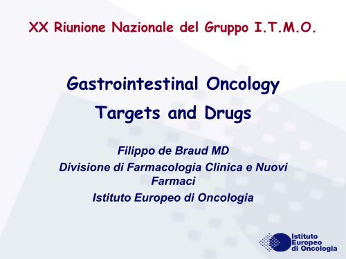 Gastrointestinal Oncology Targets and Drugs - ITMO
