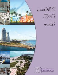 city of miami beach, fl - Bob Murray & Associates