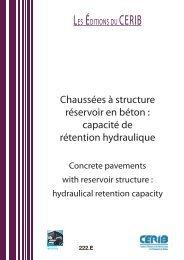 Chaussées à structure réservoir en béton - assainissement durable