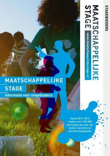 """""""brochurestagebiedersLR"""" (pdf, 869 KB) - Maatschappelijke stage"""