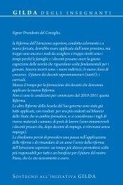 Cartolina al Presidente del Consiglio - Gilda degli Insegnanti