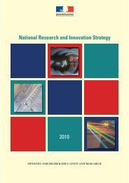 National Research and Innovation Strategy - Ministère de l ...