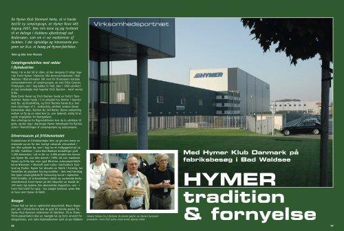 besøg på Hymer-fabrikken - Hymer Klub Danmark