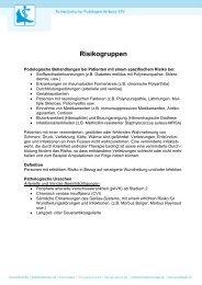 Definition Risikogruppen - Schweizerischer Podologen-Verband SPV