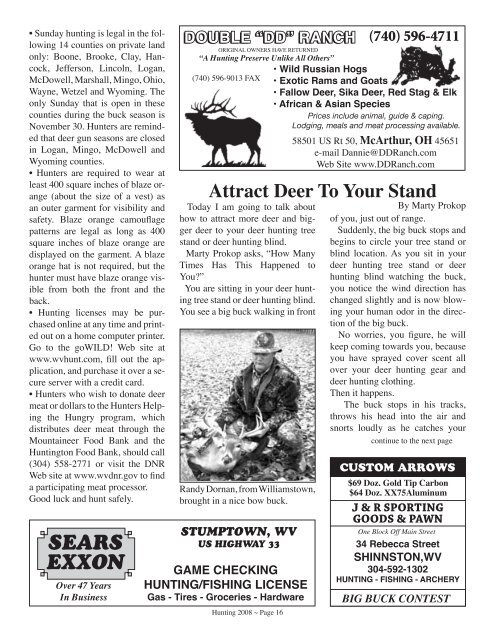 Hunting 2008 Issue - Wvasportsman.net