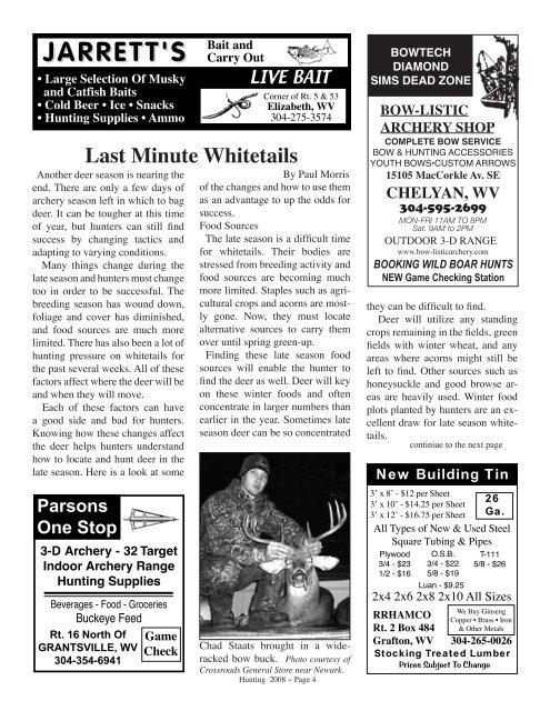 Hunting 2008 Issue - Wvasportsman.net