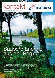 Saubere Energie aus der Region - Mainova AG